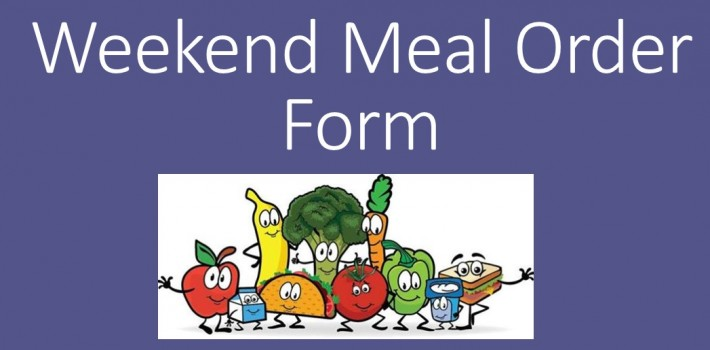 Weekend Meals Order Form